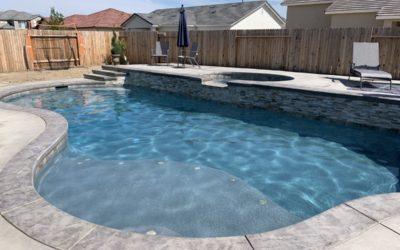 Free Form Pool and Spa